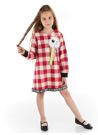 Denokids Hello Babe Kız Çocuk Elbise Renkli